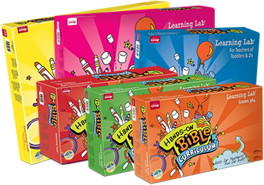 product boxes for Hands-On Bible Curriculum