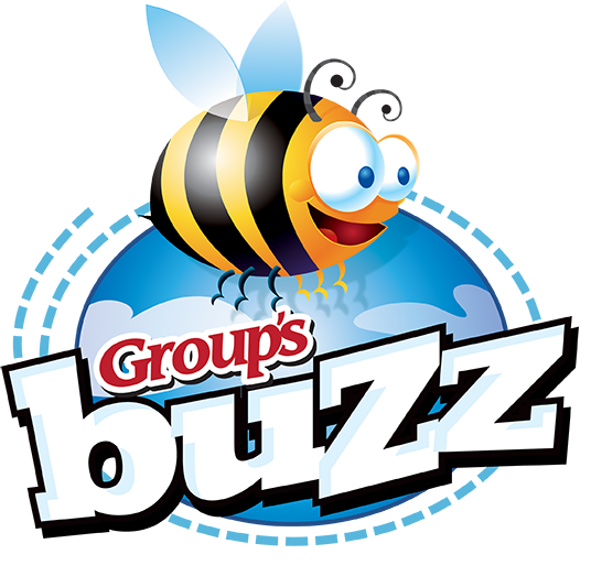 Buzz Logo Color - White Tagline