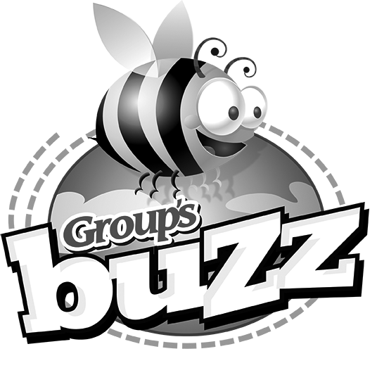 Buzz Logo Black and White - White Tagline