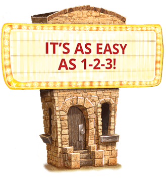 It's as Easy as 1-2-3 Marquee Sign