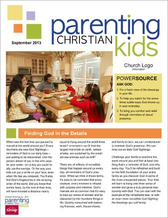 Parenting Christian Kids Newsletter