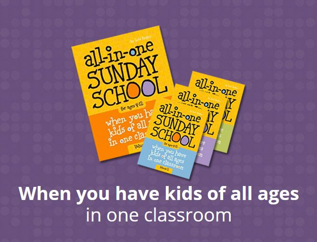 All-in-One Sunday School Lesson Book Set - When you have kids of all ages in one room