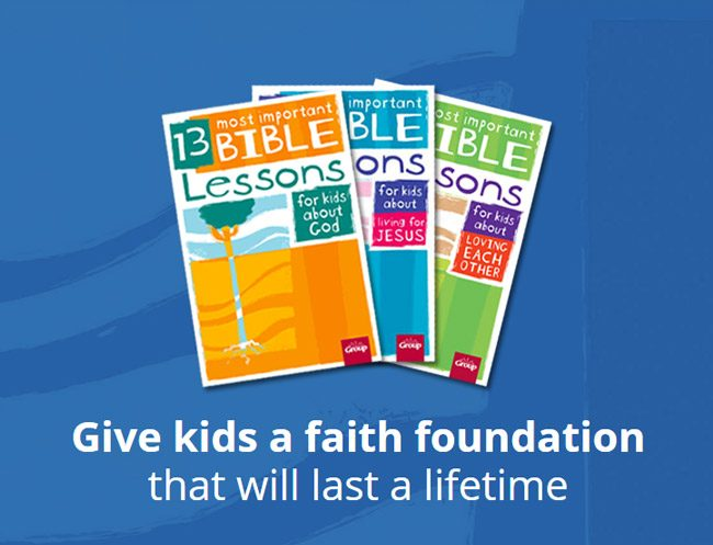 13 Most Important Bible Lessons for Kids Lesson Book Set - Give kids a faith foundation that will last a lifetime