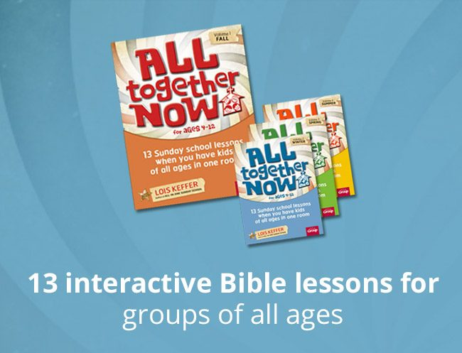 All Together Now Lesson Book Set - 13 interactive Bible lessons for groups of all ages