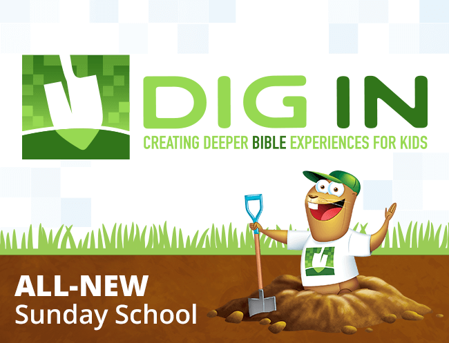 Childrens sunday school curriculum kids sunday school dig in logo yadclub Gallery