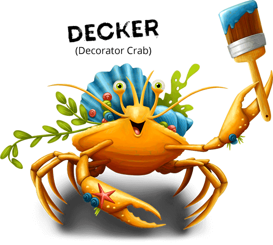 Decker the Decorator Crab Bible Memory Buddy