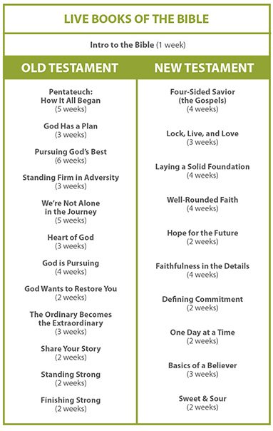 Live Books of the Bible Lesson Plan