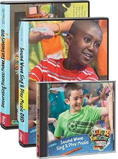 Maker Fun Factory VBS DVDs and CDs