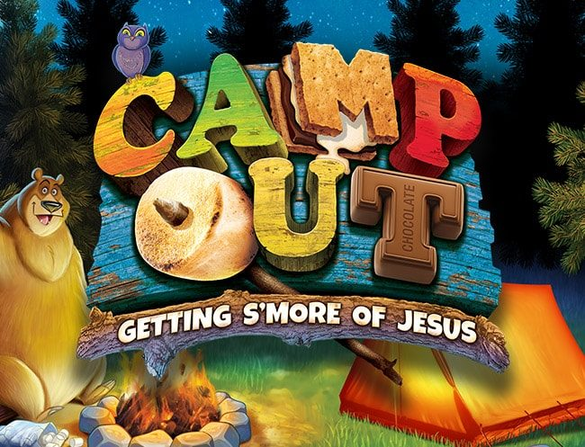 Camp Out Weekend VBS Logo