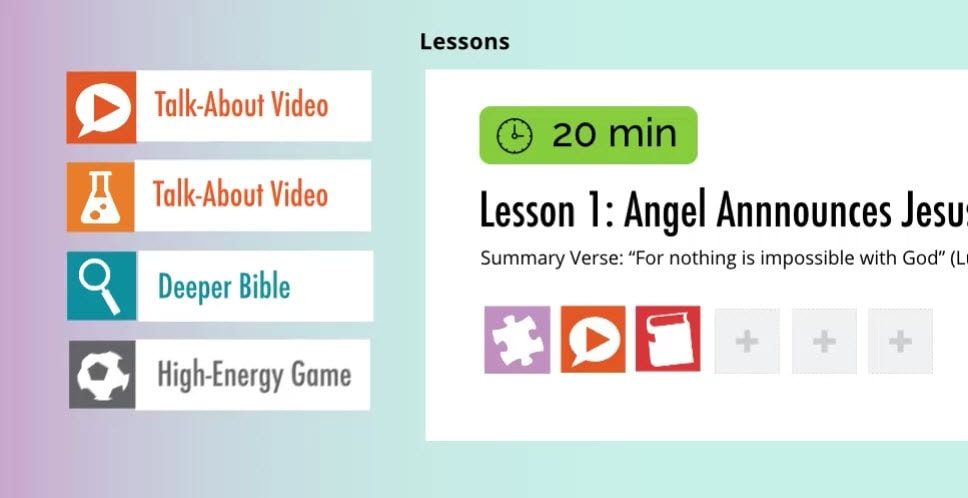 DIG IN Sunday School Curriculum, Digital Sunday School Curriculum