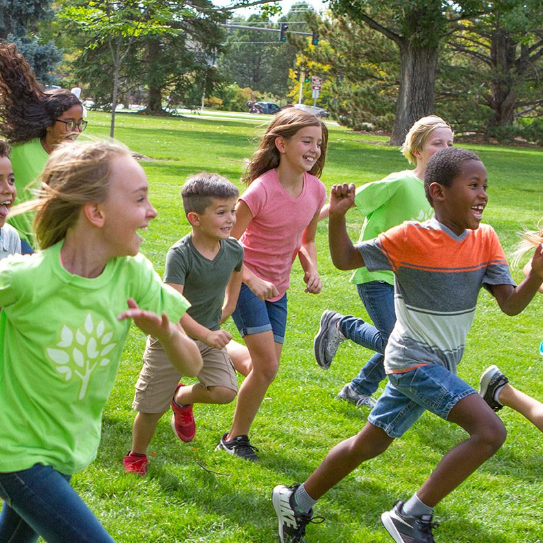 kids running at summer day camp