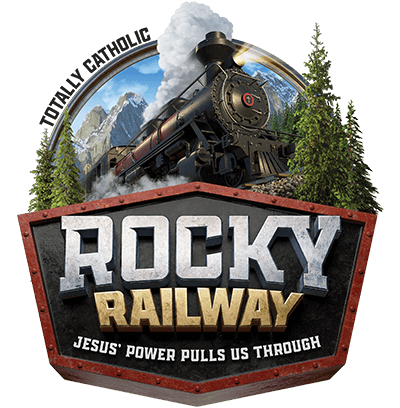 Totally Catholic Rocky Railway VBS 2020 Logo