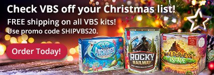 Free Shipping on All 2020 VBS Starter Kits with Promo Code SHIPVBS20