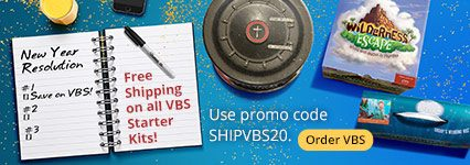 Free Shipping on All 2020 VBS Starter Kits with Code SHIPVBS20