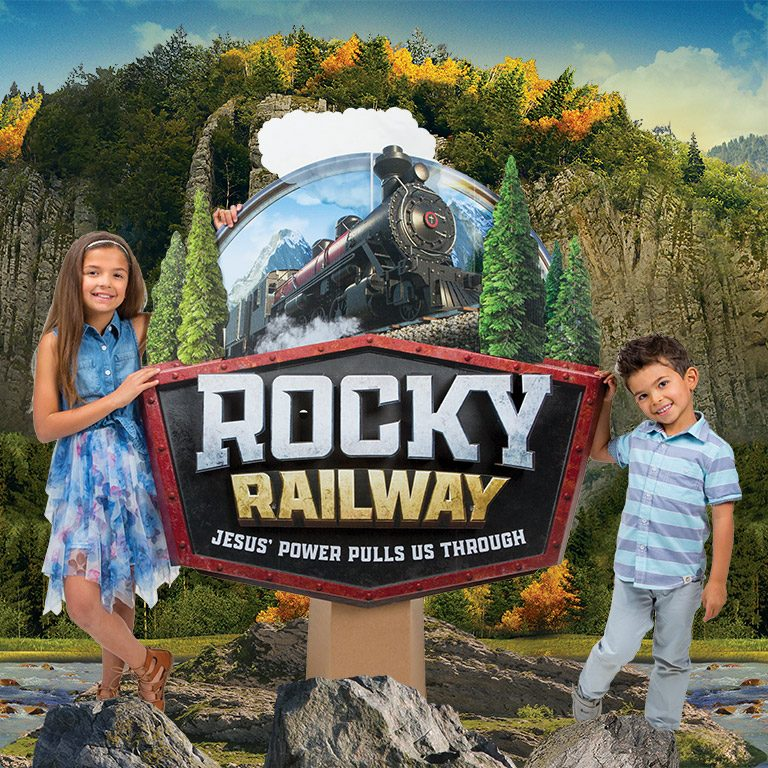 Rocky Railway Logo Display