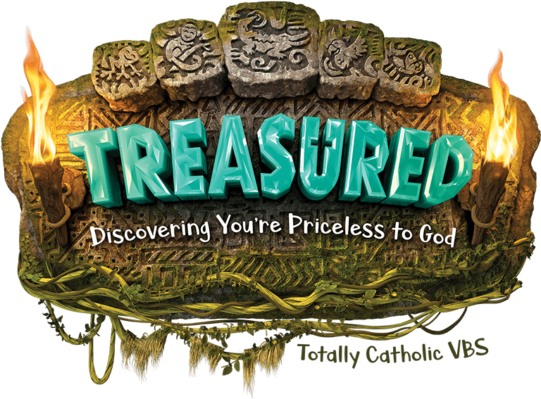 Totally Catholic Treasured VBS Logo 2021